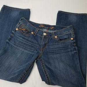 Seven7 jeans bootcut mid rise denim size 31